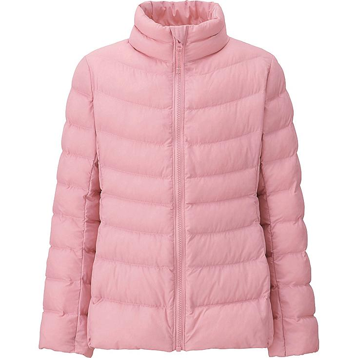 GIRLS LIGHT WARM PADDED JACKET, PINK, large