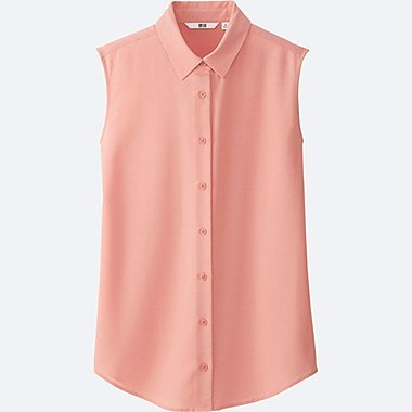 WOMEN Easy Care Silk Touch Sleeveless Blouse