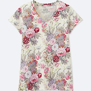 WOMEN (ÉPICE COLLECTION)  SHORT-SLEEVE V-NECK T-SHIRT, PINK, medium