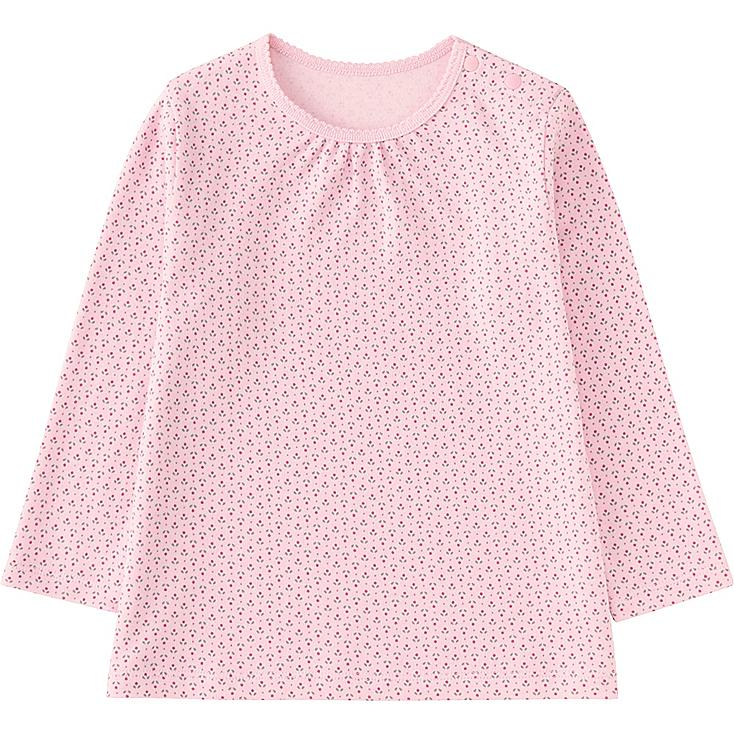 TODDLER CREWNECK LONG SLEEVE T-SHIRT, PINK, large