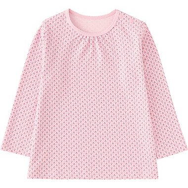 TODDLER CREWNECK LONG SLEEVE T-SHIRT, PINK, medium