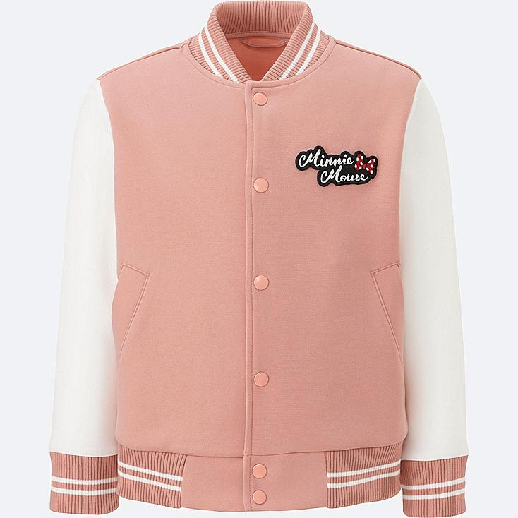 KIDS DISNEY COLLECTION DRY SWEAT LONG-SLEEVE BOMBER, PINK, large