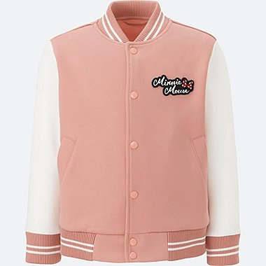 KIDS DISNEY COLLECTION DRY SWEAT LONG-SLEEVE BOMBER, PINK, medium
