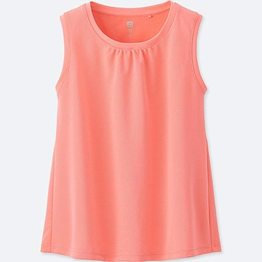 GIRLS DRY-EX TANK TOP, PINK, medium