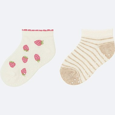 BABY SHORT SOCKS 2P, PINK, medium