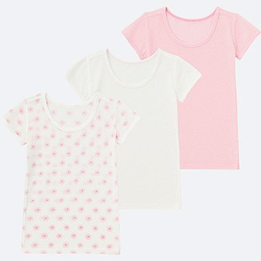 BABIES INFANT Mesh Inner Short Sleeve T-Shirt  - 3 Pack