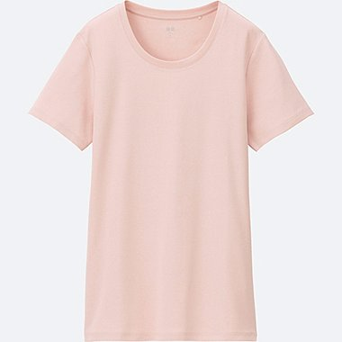 WOMEN SUPIMA COTTON CREW NECK SHORT SLEEVE T-Shirt