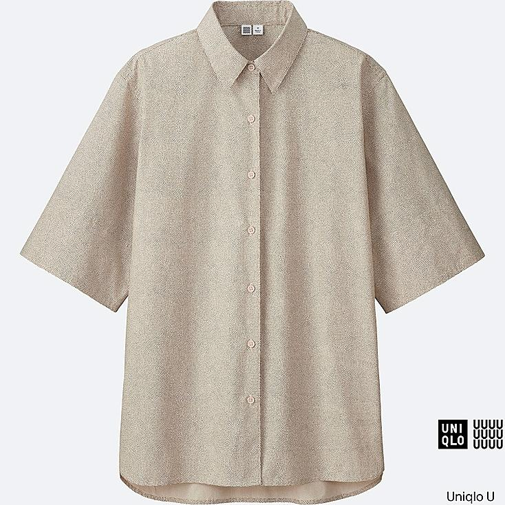 WOMEN Uniqlo U Cotton Oversized Short Sleeve Shirt