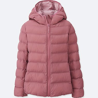 GIRLS LIGHT WARM PADDED PARKA, PINK, medium