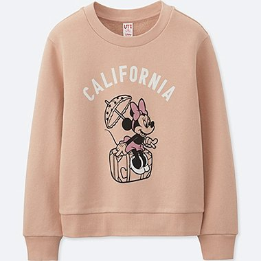 GIRLS MICKEY TRAVELS GRAPHIC SWEATSHIRT, PINK, medium
