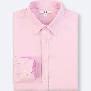 MEN EASY CARE OXFORD LONG SLEEVE REGULAR FIT SHIRT (NO POCKET)