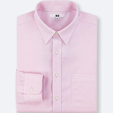 MEN NO-IRON LONG-SLEEVE SHIRT (ONLINE EXCLUSIVE), PINK, medium