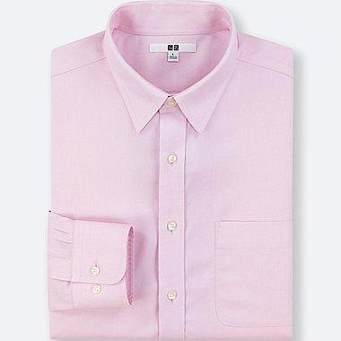 MEN NO-IRON LONG-SLEEVE SHIRT (ONLINE EXCLUSIVE), PINK, medium