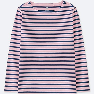 KIDS STRIPED BOAT NECK LONG SLEEVE T-SHIRT