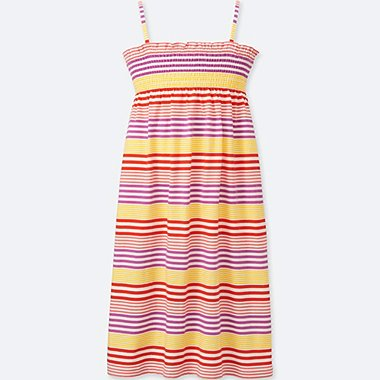 GIRLS STRIPED CAMISOLE DRESS