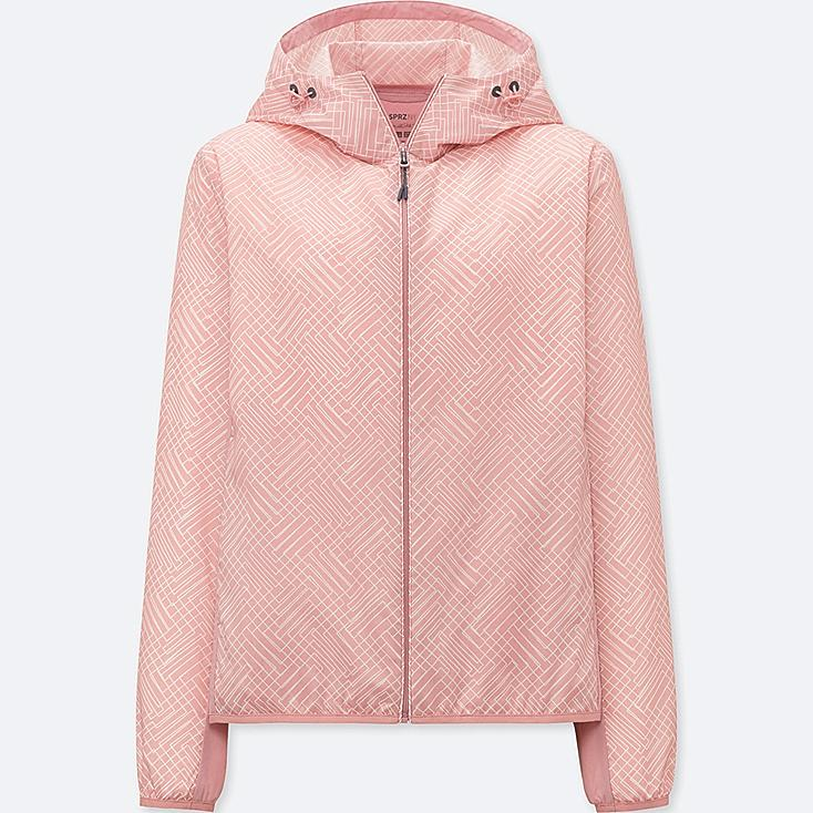 WOMEN SPRZ NY POCKETABLE PARKA, PINK, large