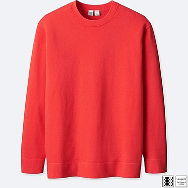 MEN UNIQLO U COTTON CASHMERE CREW NECK LONG SLEEVE SWEATER