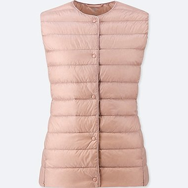 WOMEN ULTRA LIGHT DOWN COMPACT VEST, PINK, medium