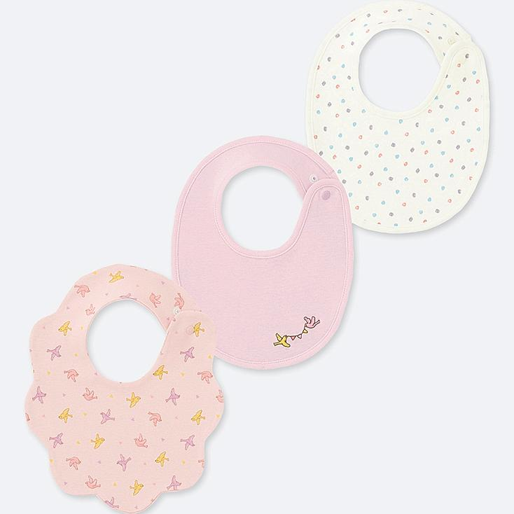 NEWBORN BIB (SET OF 3), PINK, large