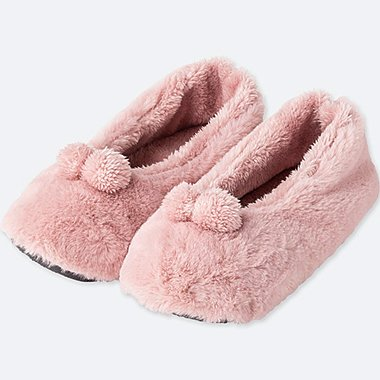 WOMEN FLEECE BALLERINA SLIPPERS