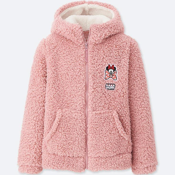 KIDS DISNEY FLEECE PARKA, PINK, large