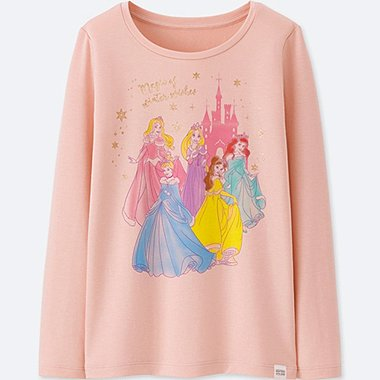 GIRLS DISNEY HEATTECH EXTRA WARM LONG SLEEVED T-SHIRT