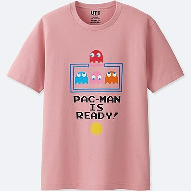 THE GAME BY NAMCO MUSEUM SHORT-SLEEVE GRAPHIC T-SHIRT (PAC-MAN), PINK, medium