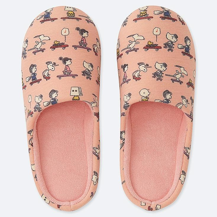 PEANUTS SLIPPERS, PINK, large