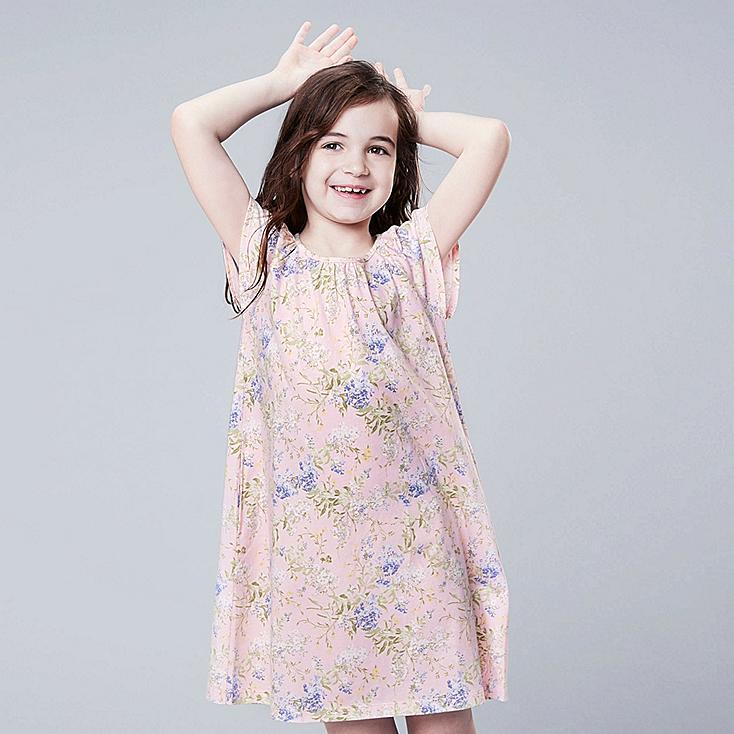 GIRLS STUDIO SANDERSON FOR UNIQLO SHORT-SLEEVE DRESS, PINK, large