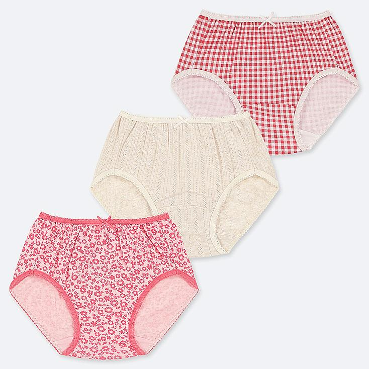 GIRLS SHORTS (SET OF 3), PINK, large