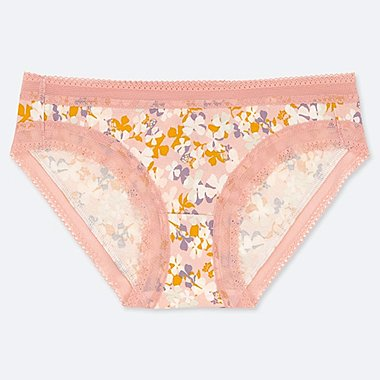 WOMEN FLORAL PRINT LACE BRIEFS