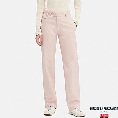 WOMEN COTTON CHINO PANTS (INES DE LA FRESSANGE), PINK, medium