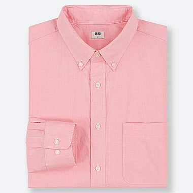 MEN EXTRA FINE COTTON BROADCLOTH LONG-SLEEVE SHIRT, PINK, medium
