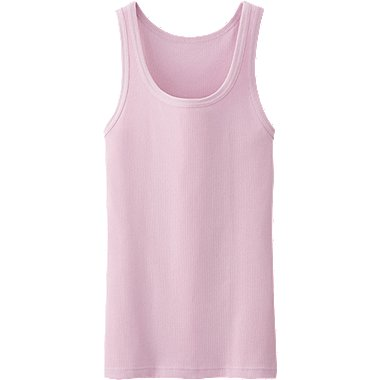 MEN PACKAGED DRY COLOR RIB TANK TOP, PINK, medium