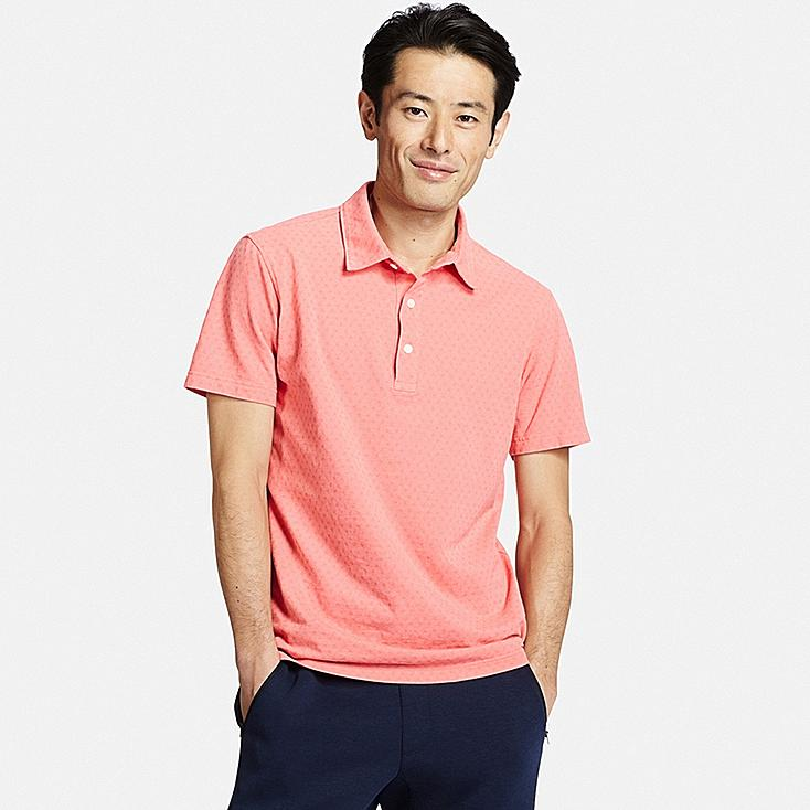 MEN'S WASHED PIQUE POLO SHIRT, PINK, large