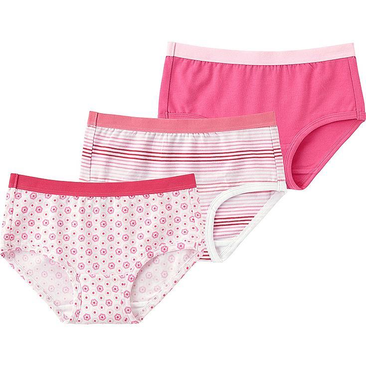 Girls Shorts, 3 Pack, PINK, large