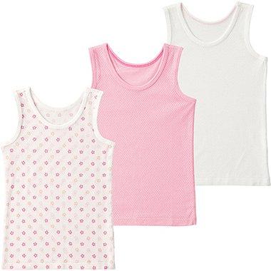Toddler Mesh Tank Top Undershirt, 3 Pack, PINK, medium