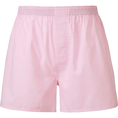 MEN WOVEN LIGHT OXFORD TRUNKS, PINK, medium