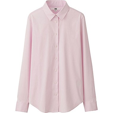 WOMEN Supima Cotton Stretch Long Sleeve Shirt