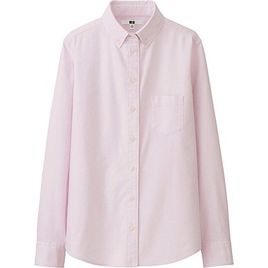 WOMEN Oxford Slim Fit Stretch Shirt