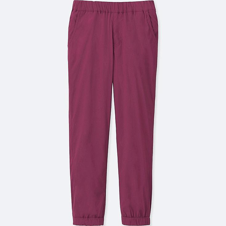 KIDS WARM-LINED STRETCH JOGGER PANTS, PINK, large