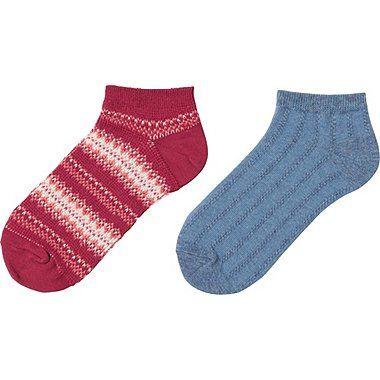 GIRLS SHORT SOCKS 2P, PINK, medium