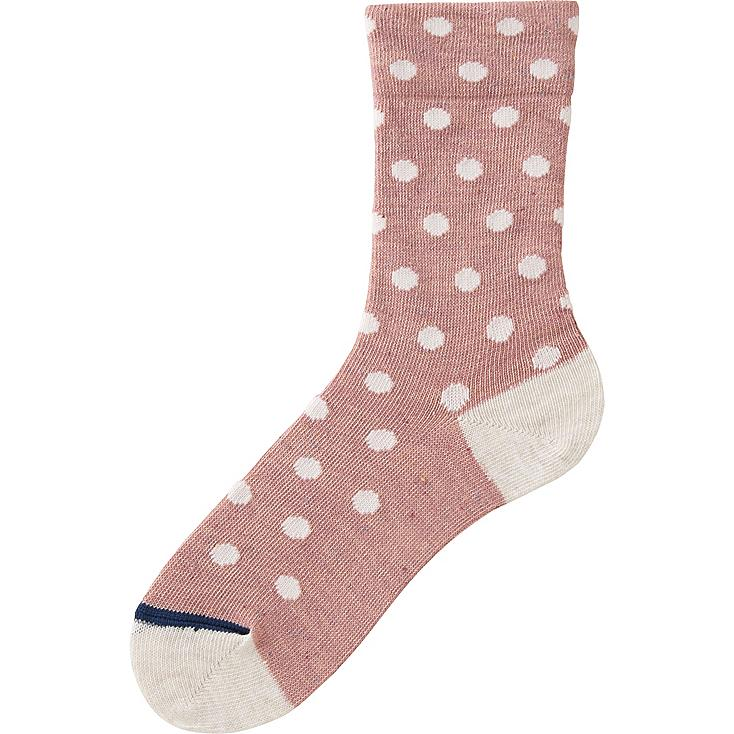 WOMEN SOCKS (NEP DOT), PINK, large