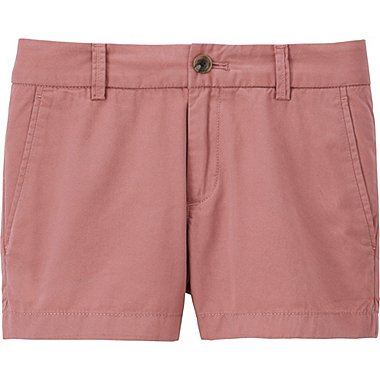 WOMEN CHINO MICRO SHORTS, PINK, medium