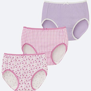GIRLS SHORTS 3P, PINK, medium