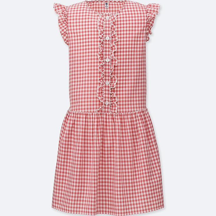 GIRLS Gingham Check Short Sleeve Dress