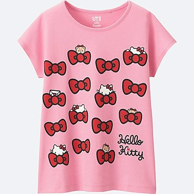 GIRLS SANRIO SHORT SLEEVE GRAPHIC T-SHIRT, PINK, medium