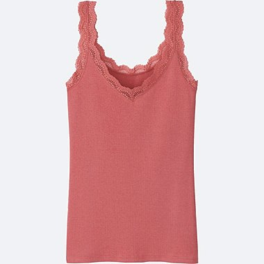 WOMEN 2Way Ribbed Lace Tank Top
