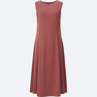 WOMEN LIGHTWEIGHT PONTE SLEEVELESS DRESS