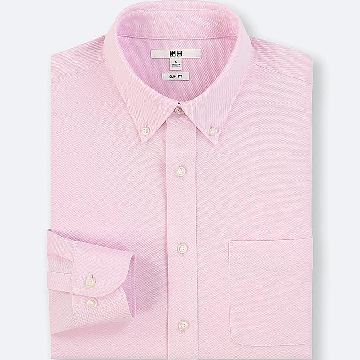 MEN EASY CARE COMFORT JERSEY SLIM FIT SHIRT (BUTTON-DOWN COLLAR)